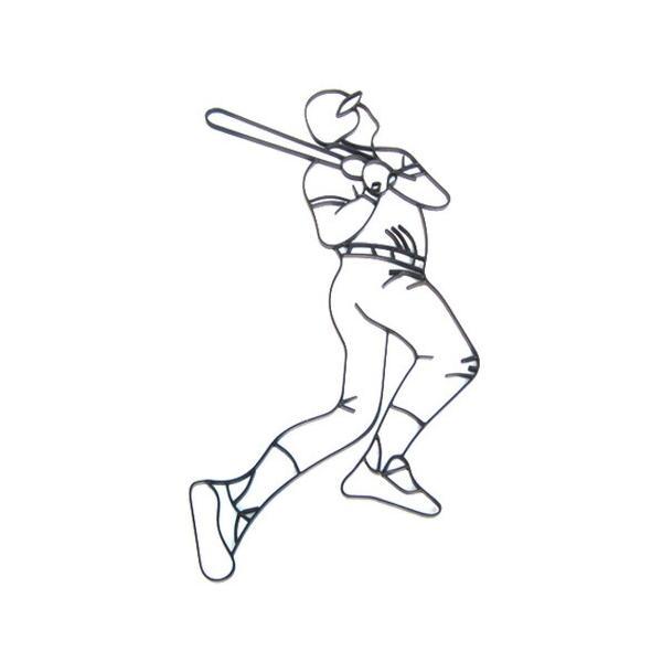 アイアン飾り(ロートアイアン・インテリア・妻飾り・アンティーク風・オーナメント・野球) INK-1401066H