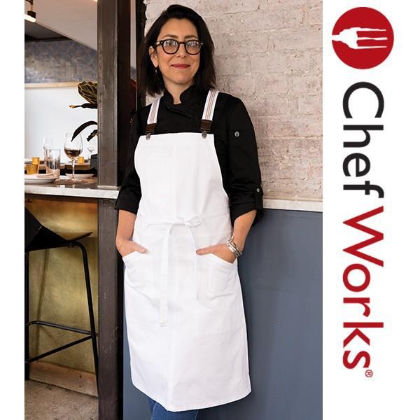 Chef Works(シェフワークス) BERKELEY (バークレー)  胸当てエプロン PETITE BIB スモールエプロン サスペンダー 付け替え可能 ホワイト 白|inkbank|05