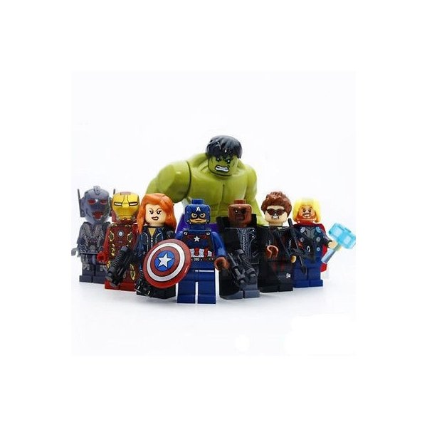 (即日配達)レゴ互換◆アベンジャーズ ミニフィグ(ミニフィギュア) 8体セット LEGO(レゴ) 互換 並行輸入|inoq-2