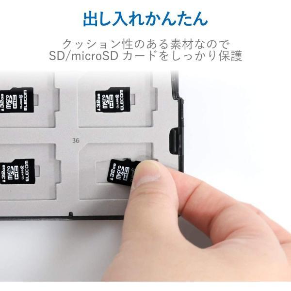 エレコム メモリカードケース 72枚収納(SDカード36枚+microSDカード36枚) インデックスカード+ナンバーラベル付き ブラック CMC-ECSDCDC02BK inputmhiroshima 03
