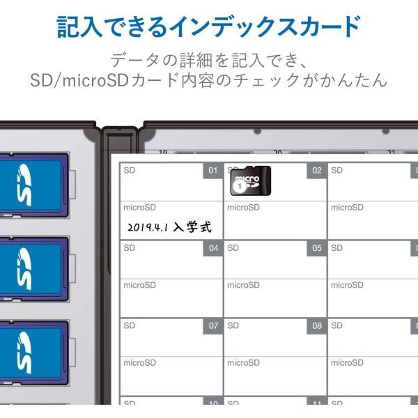 エレコム メモリカードケース 72枚収納(SDカード36枚+microSDカード36枚) インデックスカード+ナンバーラベル付き ブラック CMC-ECSDCDC02BK inputmhiroshima 05