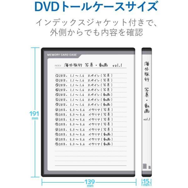 エレコム メモリカードケース 72枚収納(SDカード36枚+microSDカード36枚) インデックスカード+ナンバーラベル付き ブラック CMC-ECSDCDC02BK inputmhiroshima 06
