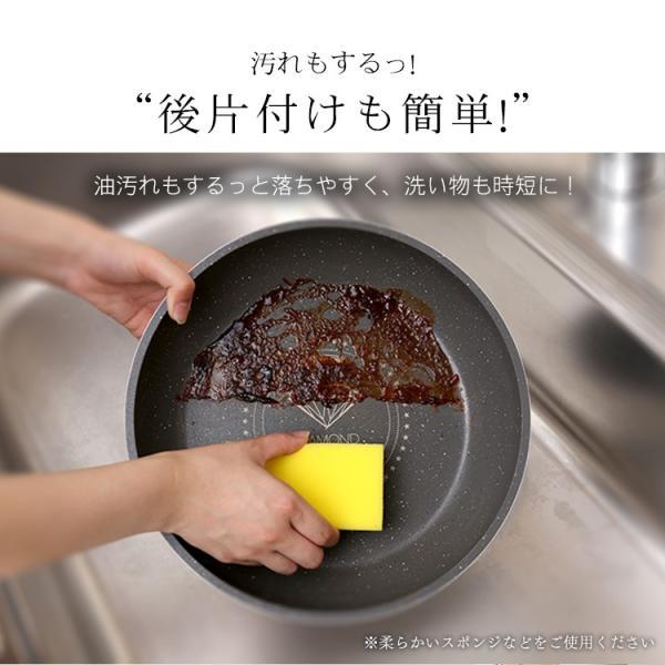 ダイヤモンドコートパン フライパン 20cm IH対応 IS-F20 KITCHEN CHEF アイリスオーヤマ|insdenki-y|12