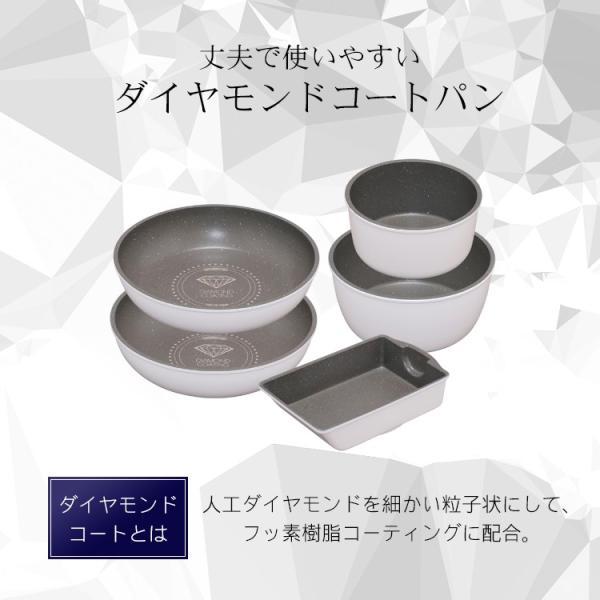 ダイヤモンドコートパン フライパン 20cm IH対応 IS-F20 KITCHEN CHEF アイリスオーヤマ|insdenki-y|06
