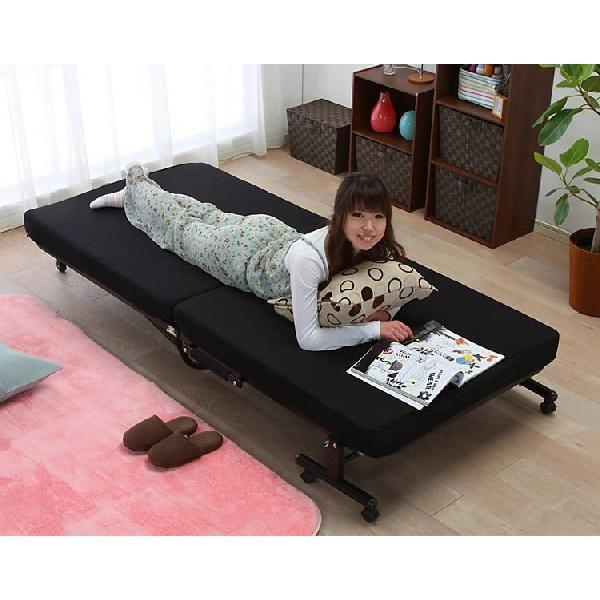 ベッド シングル 折りたたみ 折りたたみベッド 安い リクライニング 収納 低反発 OTB-TRコンパクト 完成品 折り畳み 布団 寝具|inskagu-y|03