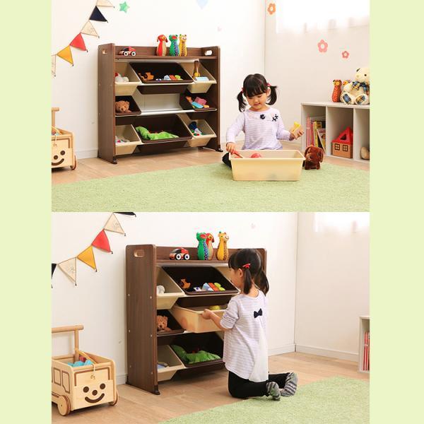 おもちゃ 収納 おもちゃ箱 子供部屋 おしゃれ 子供 おもちゃ収納 本棚 絵本 収納ボックス キッズ 天板付キッズトイハウスラック TKTHR-39 アイリスオーヤマ inskagu-y 04