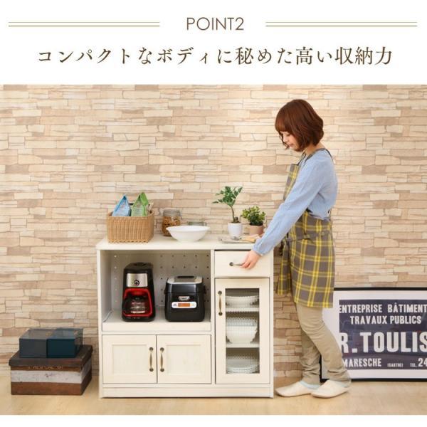 食器棚 90cm キッチン 収納 キッチンボード 食器棚 キッチンラック 台所 キャビネット 収納棚 97439|inskagu-y|04