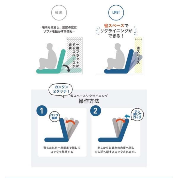 ソファー 一人掛け 座椅子 おしゃれ 安い 脚付き リクライニング クッション付き 脚付きローソファ座椅子 CG-807-2M-MFB (D) (在庫処分) inskagu-y 07