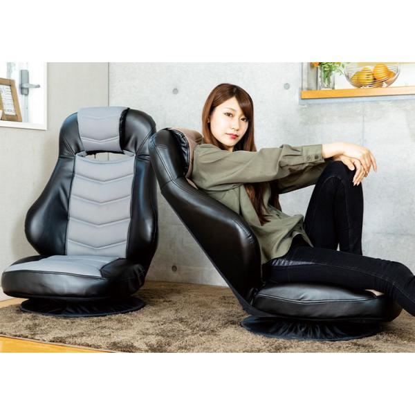 ゲーミングチェア 座椅子 レーシングチェア チェアー チェア イス 椅子 おしゃれ シンプル 回転 回転式レーシングチェアーCG-729MP クリアグローブ (D) inskagu-y 05