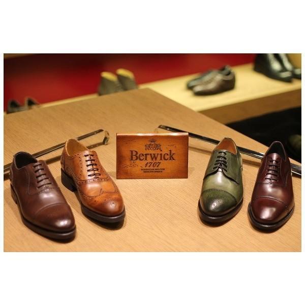 バーウィック BERWICK  ホールカット プレーン 紳士靴 革靴 ビジネスシューズ メンズ ブラック  2585 レザーソール BOXカーフ素材 グットイャー製法  スペイン製|inspire-gallery|14