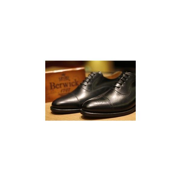 バーウィック BERWICK  ホールカット プレーン 紳士靴 革靴 ビジネスシューズ メンズ ブラック  2585 レザーソール BOXカーフ素材 グットイャー製法  スペイン製|inspire-gallery|17