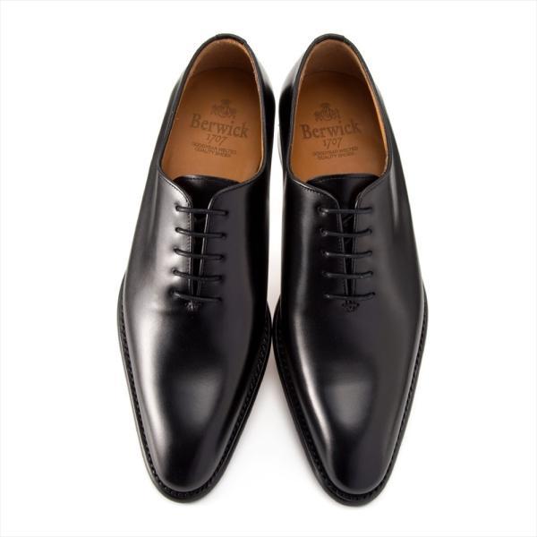 バーウィック BERWICK  ホールカット プレーン 紳士靴 革靴 ビジネスシューズ メンズ ブラック  2585 レザーソール BOXカーフ素材 グットイャー製法  スペイン製|inspire-gallery|05