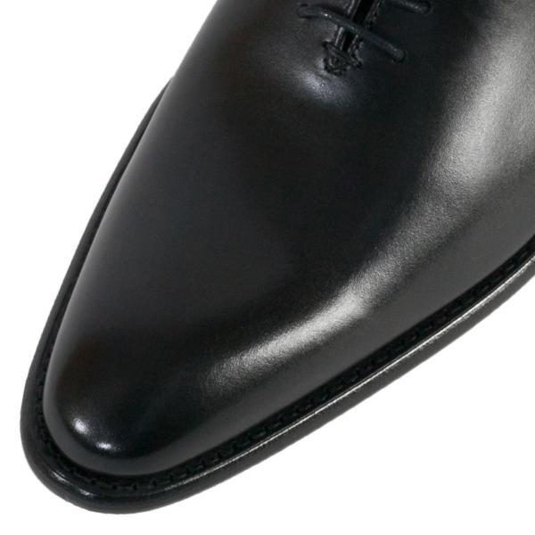 バーウィック BERWICK  ホールカット プレーン 紳士靴 革靴 ビジネスシューズ メンズ ブラック  2585 レザーソール BOXカーフ素材 グットイャー製法  スペイン製|inspire-gallery|06