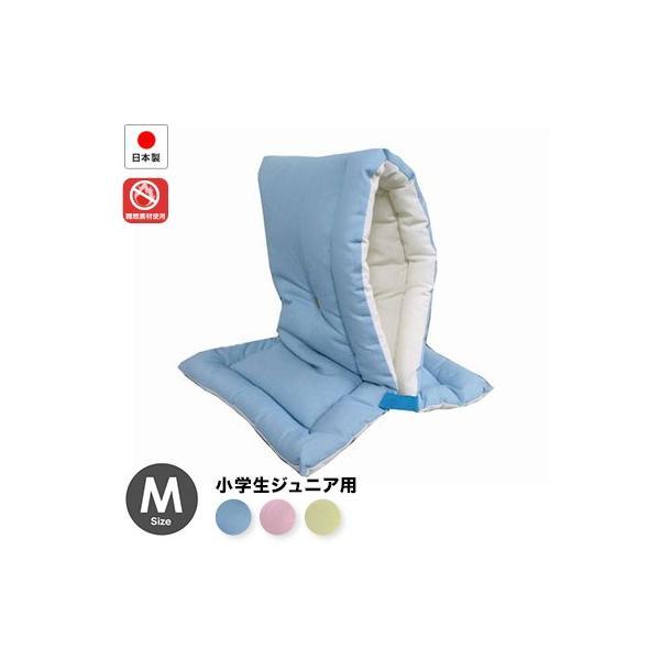 日本防災協会認定 防災ずきん 日本製(幼児から小学低学年用)42×28cm Mサイズ防災クッション