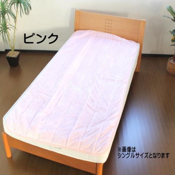 京都西川 やわらかパフ敷きパッドシーツ セミダブルサイズ【送料無料】|intekoubo|08