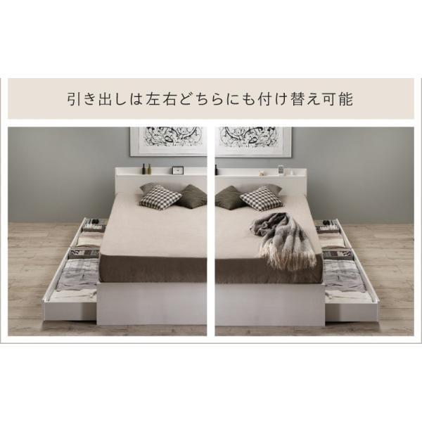 ベッド マットレス付き 収納付き ベッドフレーム 収納ベッド ベット マットレスセット コンセント付き シングルベッド ボンネルコイル ポケットコイル 送料無料|intelogue|05