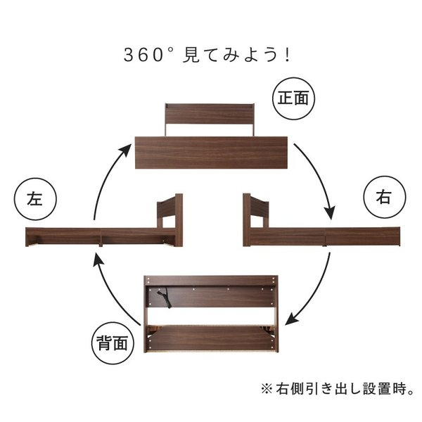 ベッド マットレス付き 収納付き ベッドフレーム 収納ベッド ベット マットレスセット コンセント付き シングルベッド ボンネルコイル ポケットコイル 送料無料|intelogue|10
