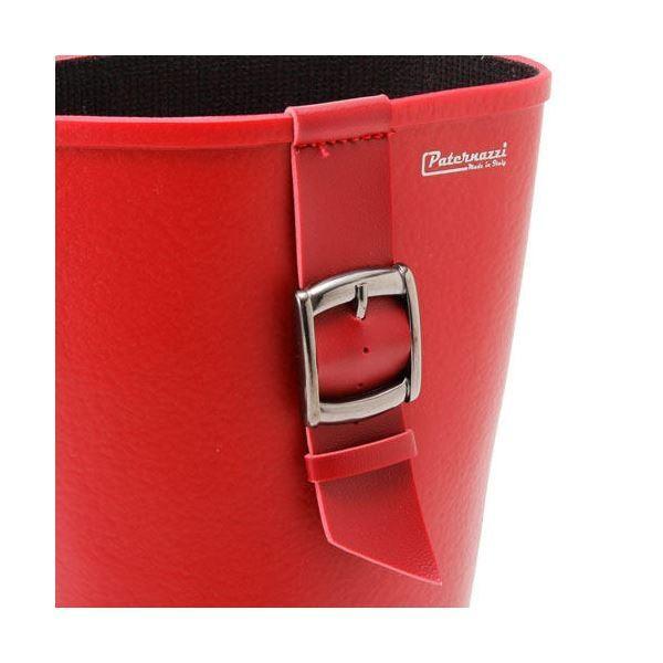 送料無料PATERNAZZI イタリア製ロングレインブーツ RED (レッド) 39サイズ 約24.5cm