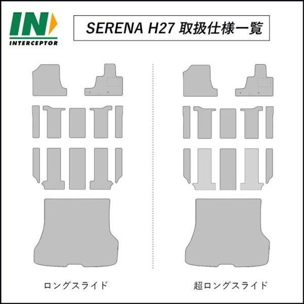 日産 セレナ SERENA HC27 HFC27 e-POWER車 フロアマット ラゲッジマット セット 日本製 2018年3月〜|interceptor|03