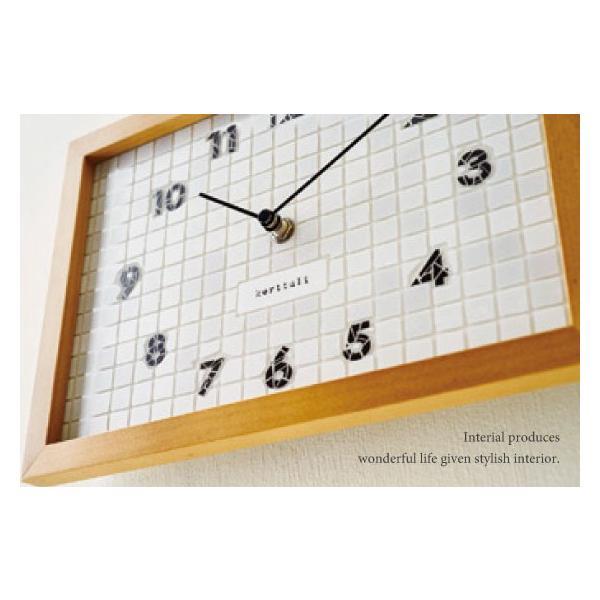 タイル調文字盤・インテリア壁掛け&置き時計|interial|02