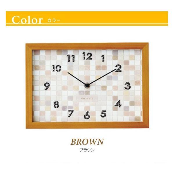 タイル調文字盤・インテリア壁掛け&置き時計|interial|03