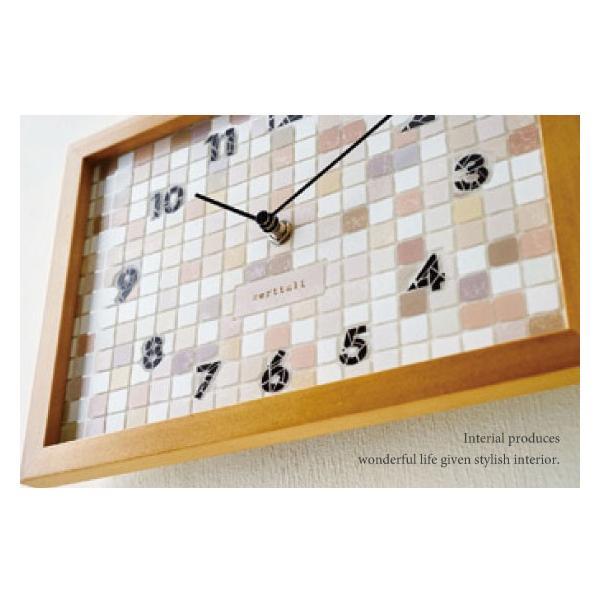 タイル調文字盤・インテリア壁掛け&置き時計|interial|04