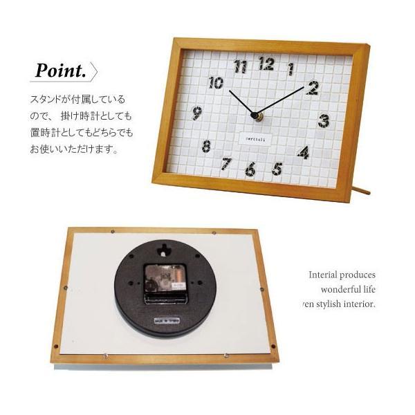タイル調文字盤・インテリア壁掛け&置き時計|interial|05