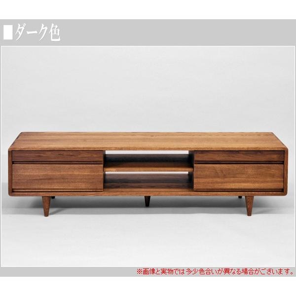 テレビ台 ウォールナット ローボード おしゃれ テレビボード 無垢 TV台 北欧 TVボード 木製|interior-bagus|04