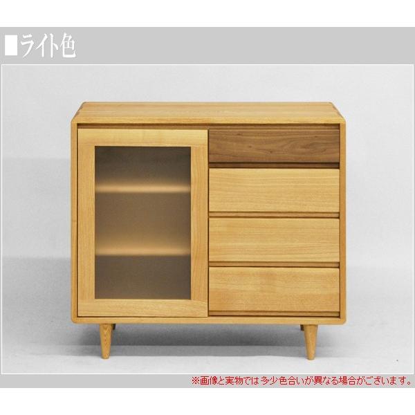 サイドボード ウォールナット リビングボード 北欧 キャビネット 木製 無垢|interior-bagus|03