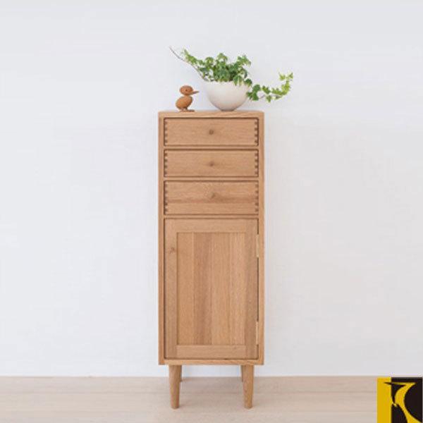 飛騨産業 チェスト 木製 スリムチェスト 幅35cm リビングチェスト 北欧 キャビネット 無垢材|interior-bagus