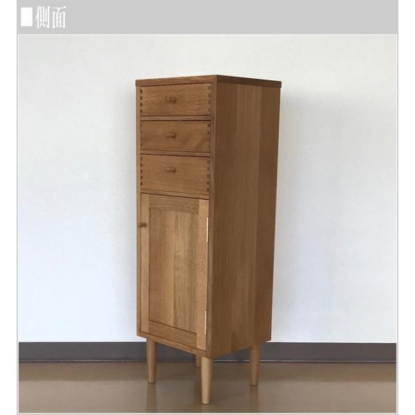 飛騨産業 チェスト 木製 スリムチェスト 幅35cm リビングチェスト 北欧 キャビネット 無垢材|interior-bagus|06