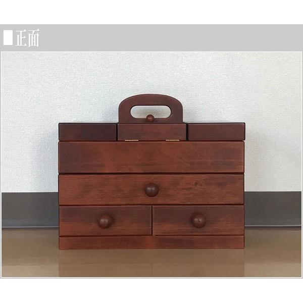 ソーイングボックス おしゃれ 裁縫箱 木製 針箱 和風 母の日 敬老の日|interior-bagus|02