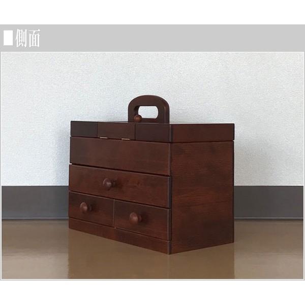 ソーイングボックス おしゃれ 裁縫箱 木製 針箱 和風 母の日 敬老の日|interior-bagus|03