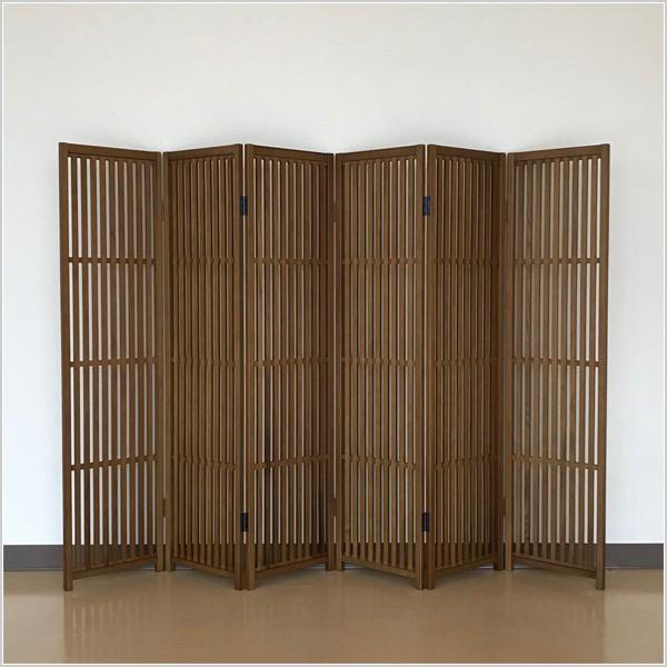 衝立 和風 屏風 和風 間仕切り パーテーション 木製 無垢材 interior-bagus 04