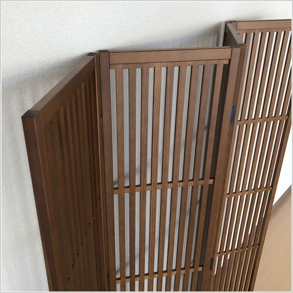 パーテーション 和風 パーティション 4連 衝立 無垢 間仕切り 日本製 国産|interior-bagus|05