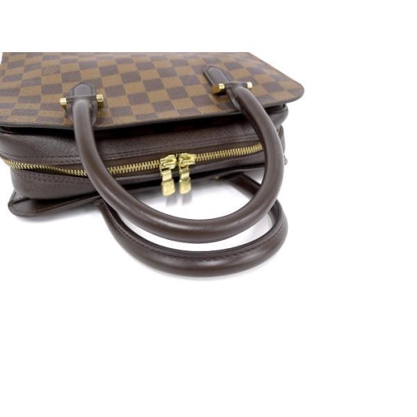 【美品】LOUIS VUITTON トリアナ ダミエ・エベヌ ハンドバッグ N51155