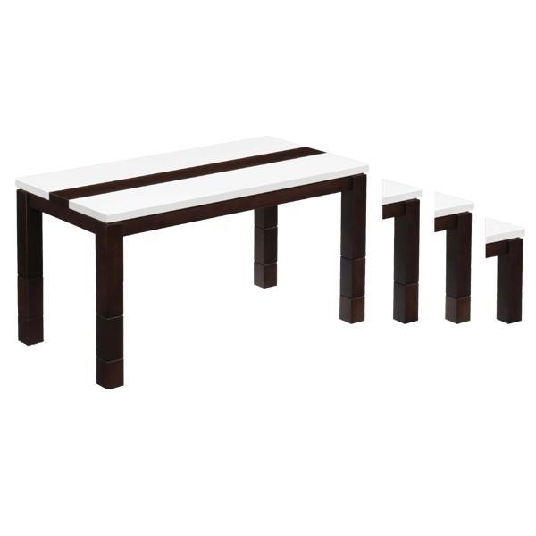 こたつ 炬燵 コタツ こたつセット 長方形 幅120 120幅 奥行き60 高さ61〜36cm 4段階高さ調節