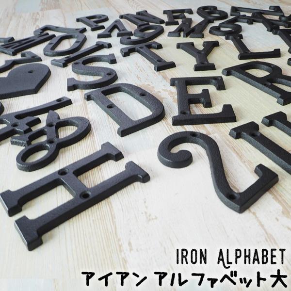 アイアンアルファベット 大 アンティーク 切り文字 表札 アルファベットサイン アイアン雑貨