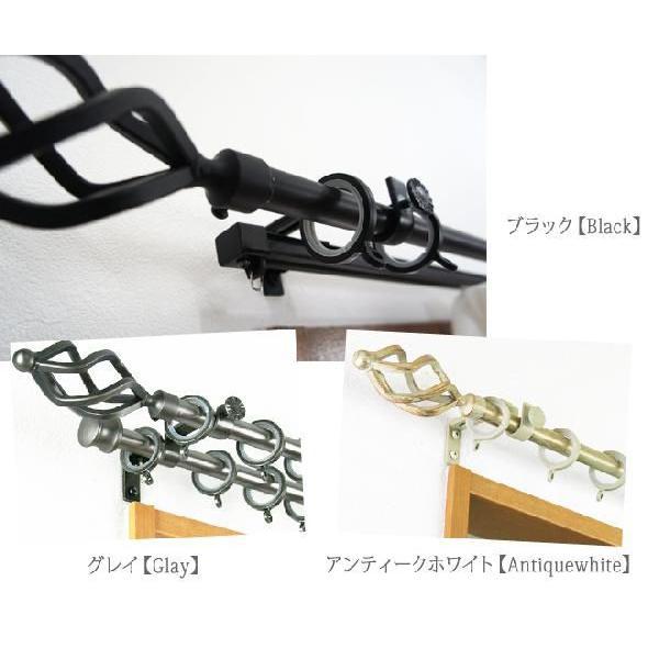 カーテンレール アイアン 機能レールダブル 伸縮/トーチ 0.7〜1.2m 装飾カーテンレール interior-depot 04