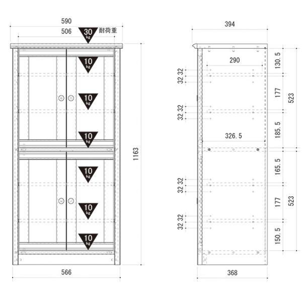 食器棚 フレンチカントリー フリーラック 木製 ガラス扉 おしゃれ 北欧|interior-festa|04