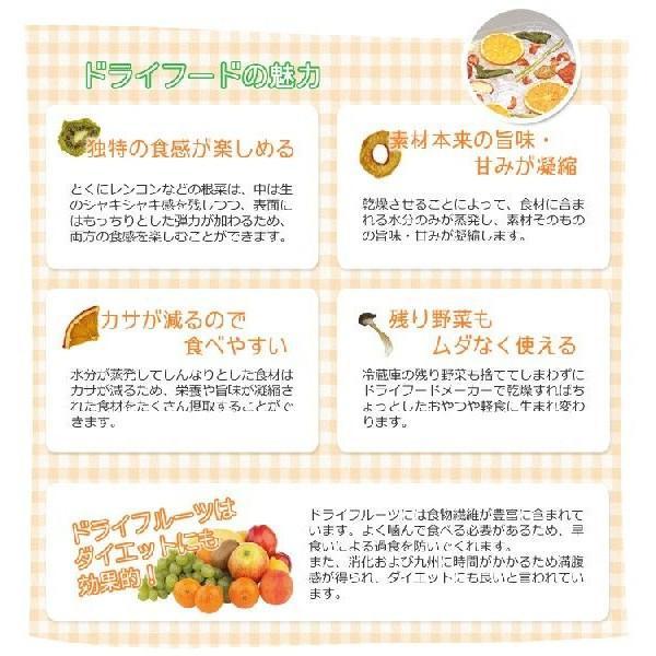 食品乾燥機 家庭用 フードドライヤー ドライフードメーカー(レシピ付)保存食 無添加|interior-festa|03