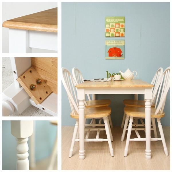 ダイニングテーブル 長方形 単品 4人用 木製 北欧 カントリー|interior-festa|04