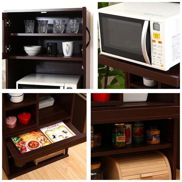 値下げ キッチンラック セット レンジ台 引き出しトレー スライド棚 キッチン収納 interior-festa 09