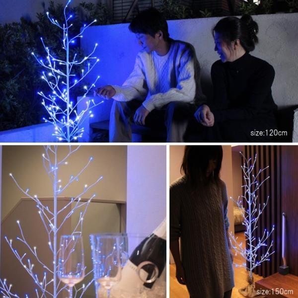 ツリー クリスマス ブランチツリー LEDツリー イルミネーション クリスマスツリー ツリー 150cm 庭 エントランス ベランダ interior-festa 05