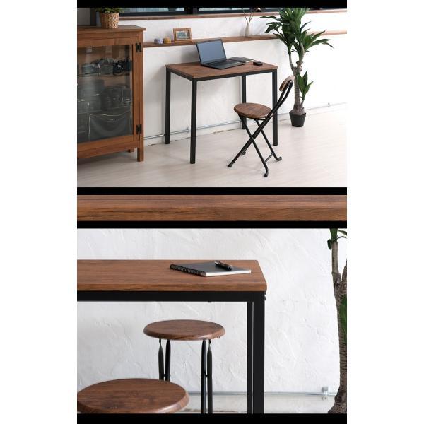 デスク テーブル おしゃれ スリム カウンター ビンテージ 北欧 リビング学習|interior-festa|02