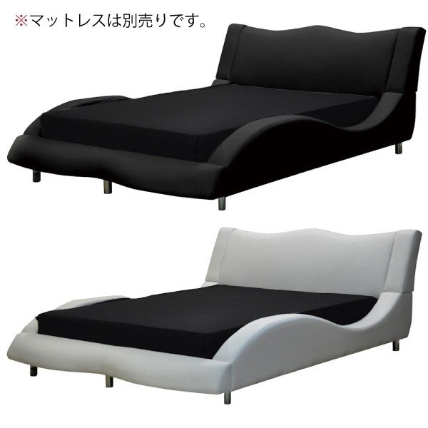 ワイドダブルベッド ベッド 合成皮革 おしゃれ|interior-more
