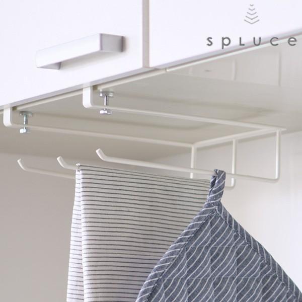 戸棚下収納SPLUCE吊棚タオルハンガー(キッチン収納吊り戸棚収納キッチン収納)