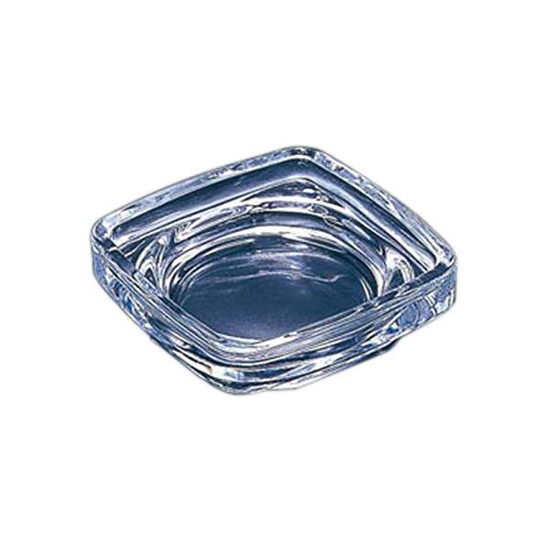 灰皿 卓上 ガラス製 角型 室内 シンプル 吸い殻入れ ( 卓上灰皿 ガラス 角 スクエア タバコ 吸い殻 )