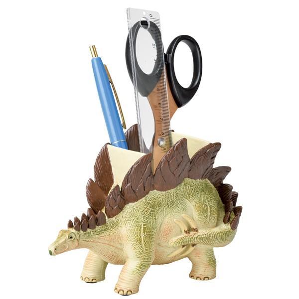 ステーショナリースタンド ペン立て 文房具 ステゴサウルス 恐竜 ( ペンスタンド 鉛筆立て 収納 デスク 文房具 )