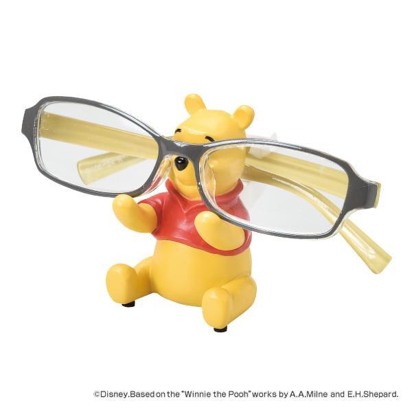 メガネスタンド POOH くまのプーさん ステーショナリー 文房具 ( メガネ立て 眼鏡立て めがね立て メガネ置き めがねホルダー )